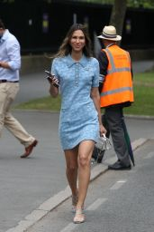 Isabella Charlotta Poppius at the All England Lawn Tennis and Croquet Club in Wimbledon 07/08/2021