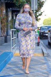 Iskra Lawrence in a Pastel Tanya Taylor Dress 07/20/2021