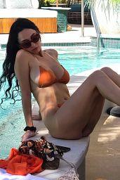 Iva Kovacevic in an Orange Bikini - Grand Opening of AYU Day Club in Las Vegas 07/05/2021