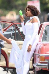 Jennifer Hudson - Films a Music Video in South Los Angeles 07/24/2021