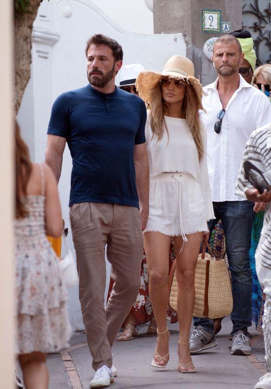 Jennifer Lopez and Ben Affleck - Vacation in Capri 07/27/2021