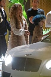 Jennifer Lopez in a White Dress - Out in Hollywood 07/01/2021