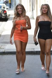 Jess Gale and Eve Gale - Heading to a Pool Party in Battersea, London 07/20/2021