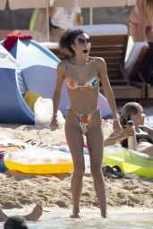 Jessica Aidi in a Colorful Bikini - Ibiza 07/19/2021