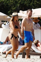 Jessica Paszka in a Bikini on the Beach in Ibiza 07/02/2021