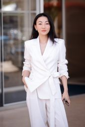 Jessica Wang at the Martinez Hotel in Cannes 07/15/2021