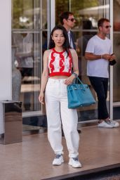 Jessica Wang at the Martinez Hotel in Cannes 07/16/2021