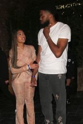 Jordyn Woods and Karl-Anthony Towns at the Highlight Room in LA 06/30/2021