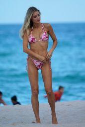 Joy Corrigan in a Pink Bikini at the Beach in Miami Beach 07/08/2021