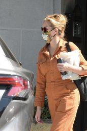 Julia Roberts in an Orange Jumpsuit - Los Angeles 07/02/2021
