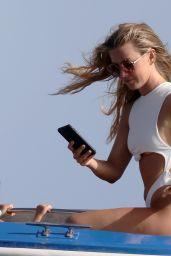 Julianne Hough in a White Bikini Set - Capri 07/07/2021