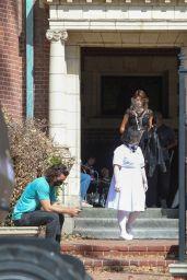 "Kaia Gerber - ""American Horror Story"" Filming Set in LA 07/30/2021"