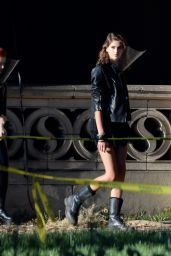 """Kaia Gerber and Sierra McCormick - """"American Horror Story"""" Spin Off Filming Set in LA 07/28/2021"""