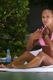 Karrueche Tran in a Pink Bikini - Miami 07/11/2021