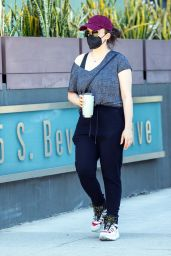 Kat Dennings in Casual Outfit - Beverly Hills 06/30/2021