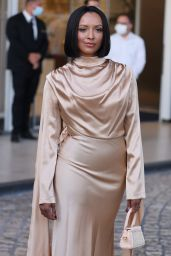 Kat Graham - Leaving the Hotel Martinez in Cannes 07/14/2021