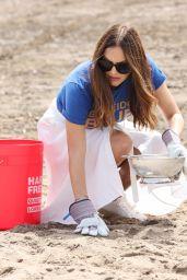 Katharine McPhee - Cleanup with World Surf League Pure and Wildcoast at Zuma Beach in Malibu 07/23/2021
