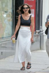Katie Holmes in a Black Tank Top and Pencil Skirt - New York 07/25/2021