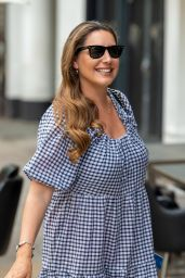 Kelly Brook in a Gingham Dress - London 07/13/2021