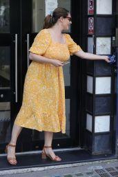 Kelly Brook in Summery Yellow Mode Dress - London 07/02/2021