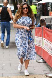 Kelly Brook Wears a Floral Dress - London 07/14/2021