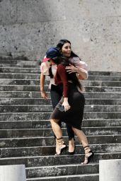 """Kim Kardashian at the Fendi Building """"Palazzo della Citta"""" in Rome 06/29/2021"""