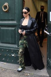 Kim Kardashian Street Style - Leaves Her Hotel in Rome 06/30/2021