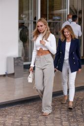Kimberley Garner at the Martinez Hotel in Cannes 07/16/2021