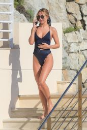 Kimberley Garner in a Plunging Swimsuit - Antibes 07/09/2021