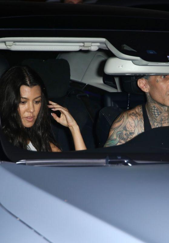 Kourtney Kardashian and Travis Barker- Leaving Jaden Hossler's Concert in West Hollywood 07/17/2021