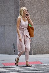 Kristen Taekman in a Pink Outfit - New York 07/29/2021
