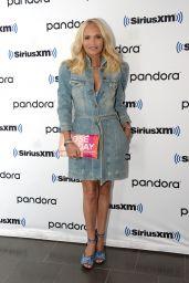 Kristin Chenoweth Wearing Retrofete Dress and Prada Shoes at SiriusXM Studios in NY 07/12/2021