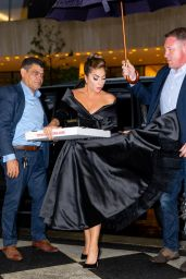 Lady Gaga in a Black Off-the-shoulder Gown - New York 07/02/2021