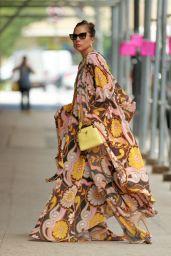 Lady Gaga in a Maxi Dress - New York 07/28/2021