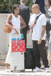 Laura Harrier With Her Boyfriend Sam Jarou in Monaco 07/03/2021