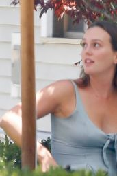Leighton Meester at a Japanese Restaurant in Brentwood 07/20/2021