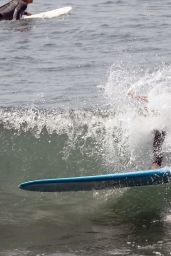 Leighton Meester - Shows off Her Surfing Skills in Malibu 07/21/2021