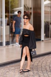 Lena Mahfouf at the Martinez Hotel in Cannes 07/13/2021