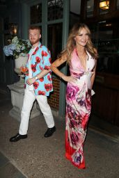 Lizzie Cundy at the Ivy in Chelsea 07/29/2021