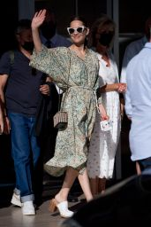 Marion Cotillard at the Martinez Hotel in Cannes 07/08/2021