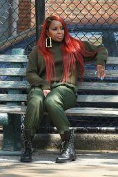 "Mary J Blige - ""Power"" Filming Set in Washington 07/28/2021"