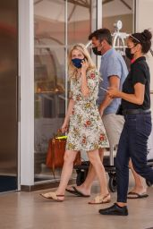 Mélanie Laurent in a White Floral Summer Dress - Martinez Hotel in Cannes 07/13/2021