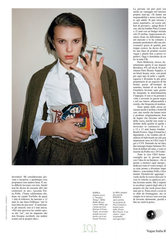 Millie Bobby Brown - Vogue Italy July 2021 Issue