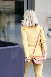 Mollie King in Tight Matching Yellow Trousers and Top - London 07/25/2021