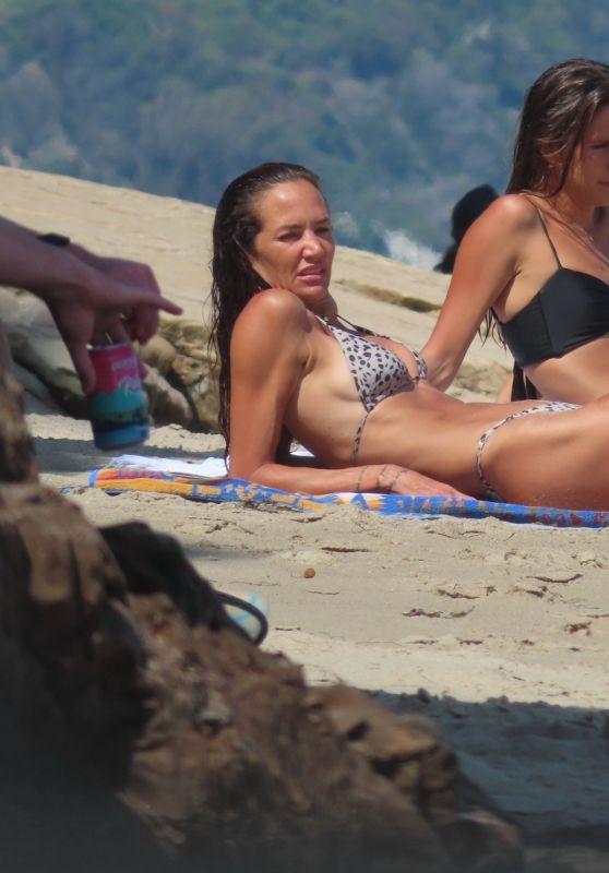 Morgan Brown in an Animal Print Bikini - Malibu 07/07/2021