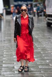 Myleene Klass - Arriving at Global Studios in London 07/12/2021