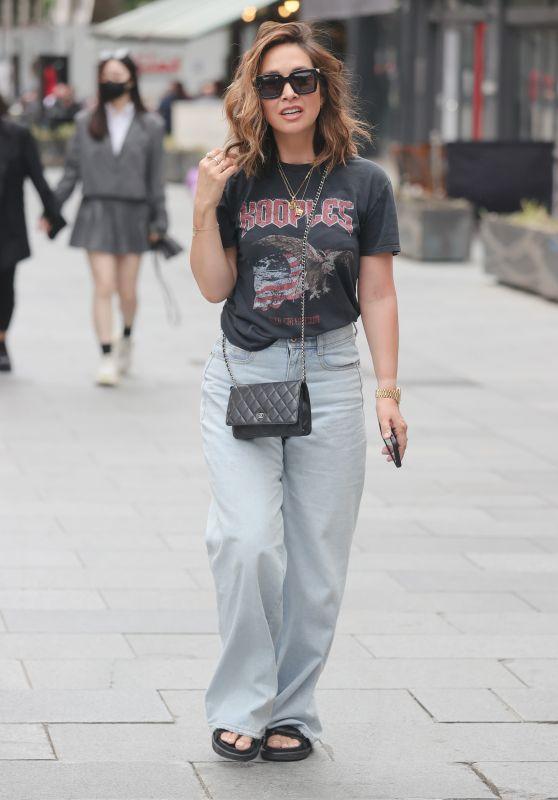 Myleene Klass in Heavy Metal T Shirt and Denim T - London 07/03/2021