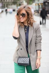 Myleene Klass in Tweed Jacket and Striped Trousers in London 07/07/2021