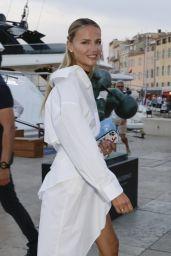 Natasha Poly - Leaves Latitude Yacht in Saint-Tropez 07/26/2021