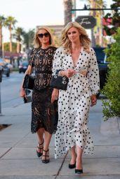 Nicky Hilton and Paris Hilton at Fia Restaurant in Santa Monica 07/19/2021